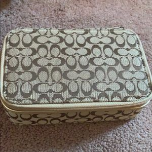 Coach jewelry travel case